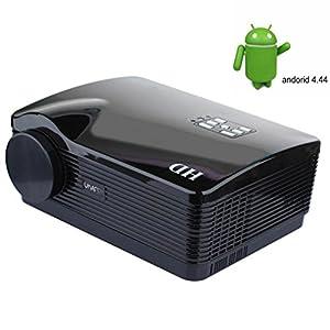 3200 Lumens Vidéoprojecteur full hd Quad Core Android 4.4 WiFi Smart 1080P 3D LCD Home Theater TV Projecteur LED Video Beamer