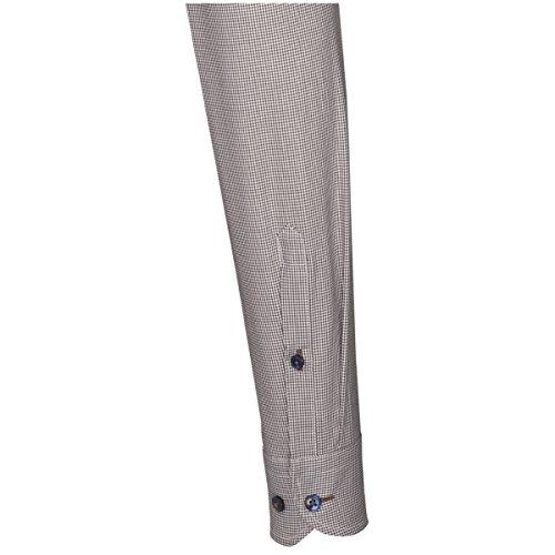 Seidensticker Herren Langarm Hemd UNO Super Slim Hai-Kragen braun / weiß kariert 672687.26 Braun