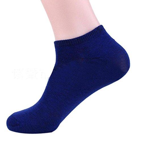 ️❤️ABsolute Sneaker 4 Paar Socke Herren Baumwolle Schiff Boot Kurze Socke Knöchel Unsichtbare Socken Atmungsaktiv Socken Anti Slip Sport Socks Socks (1 Paar, Blau)
