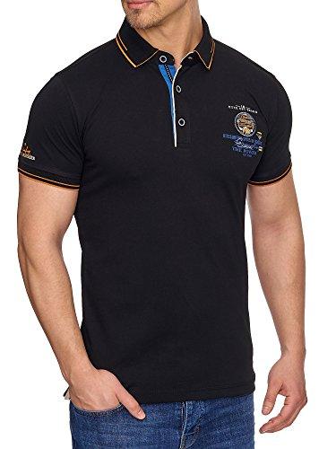 TAZZIO Herren Polo-Shirt Polohemd Poloshirt T-1041 Schwarz