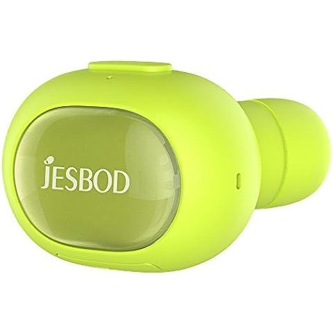 Auricular de Bluetooth, JESBOD P26 Mini Invisible Auricular Bluetooth V4.1 Auriculares inalámbricos de telefonía manos libres de auriculares con micrófono, Universal En la oreja los auriculares estéreo Cancelación de Ruido para iPhone Samsung HTC LG Motorola Android Teléfono