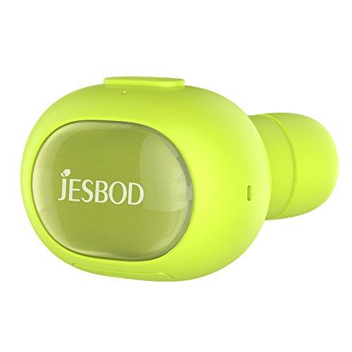 Mini Auricolari Bluetooth, JESBOD Q26 Auricolare Wireless Bluetooth V4.1 in Ear Mani Libere Senza Fili con Microfono Stereo per iPhone, Android, Tablet, MP3, ecc - Verde