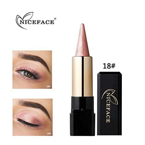 Gaddrt NICEFACE Lidschatten Schönheit Wasserdicht Eyeliner Creme Eye Liner Stift Bleistift Lidschatten Gel Make-Up (R)