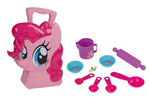 Jamara 410101 Koffer Pinkie Pie-10-Teiliges Spieleset-Küchenutensillien für kleine Kochmeister, Stabiler und handlicher Tragekoffer, kindgerechte My Little Pony Design, pink (Pony-koffer My Little)