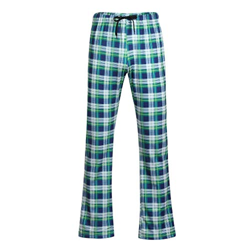 Preisvergleich Produktbild Kaister Herren Lange Hose Plaid Printing Pyjamas Hosen Herrenmode Sommer Casual Kordelzug