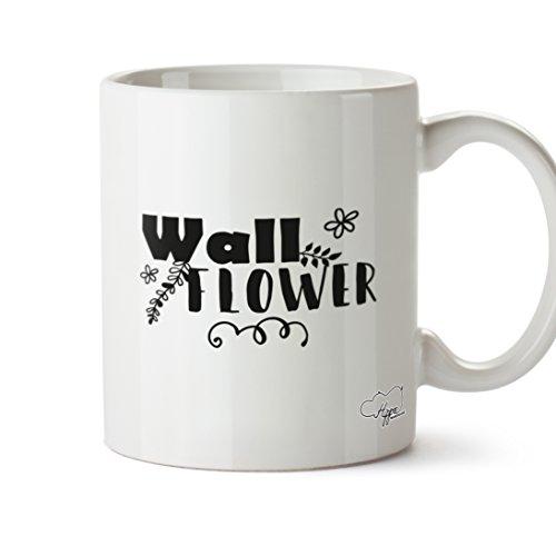 hippowarehouse Wand Blumen Typ Design 283,5Tasse, keramik, weiß, One Size (10oz) (Rocky-film T-shirts)
