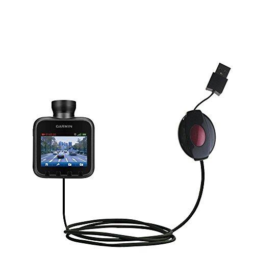 Cavo dati USB Retrattile di Caricamento compatibile con Garmin Dash Cam 10 / 20 Offre Servizi di Caricamento