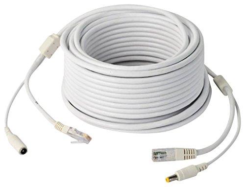 Jovision Kombi Kabel 20M Netzwerk Strom DC 12V für IP Überwachungskamera Alternative PoE Funktion (Größe: M) grau (Kabel-alternativen)