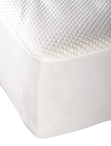 Pikolin Home Protector de colchón Bambú, Impermeable e hípertranspirable, 150 x 190/200 cm, Blanco, 200