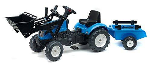 Falk - 2050CM - Vélo et Véhicule pour Enfant - Tractopelle - Landini Powermondial 110 + Remorque