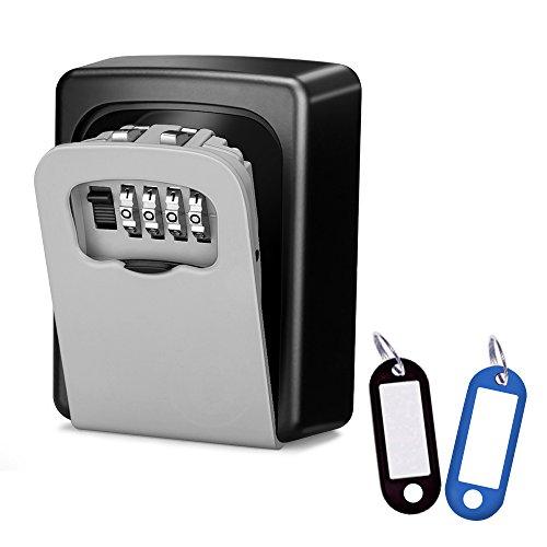 Wonyered Caja de Seguridad Cerradura Fuerte con 4 Numeros de Códigos para...