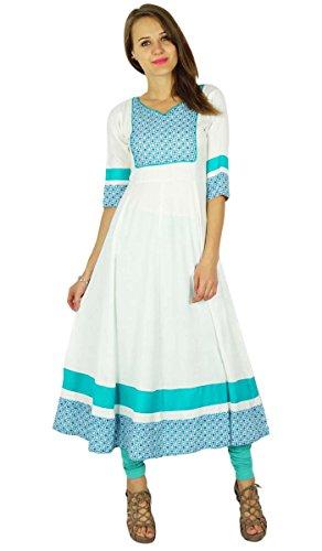 Phagun Bollywood Kurta indische Designer Frauen Ethnische Kurti Baumwolle Tunika-Kleid -