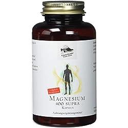 Magnesium 400 Supra • 400 mg reines Magnesium • hochdosiert • 120 Kapseln (4 Monatsvorrat) • OHNE Magnesiumstearat • Deutsche Premium Qualität • Kräuterhandel Sankt Anton