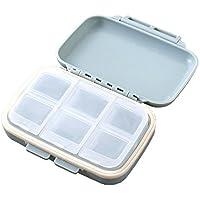 MotGlobal Medikamentenbox mit 6 Fächern, Kunststoff, tragbar preisvergleich bei billige-tabletten.eu