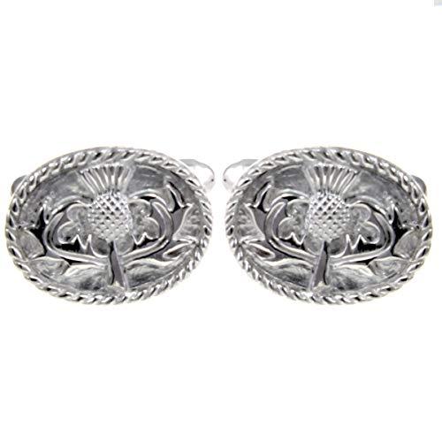 Alexander Castle Sterling Silber Schottische Distel Manschettenknöpfe (Schottische Manschettenknöpfe)