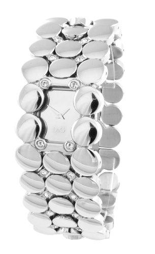 D&G Dolce&Gabbana Damen-Armbanduhr Analog Quarz Edelstahl DW0447