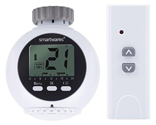 Smartwares SmartHome Drahtloses Heizkörperthermostat und 1x Fernbedienung 1Kanal, SHS-53000