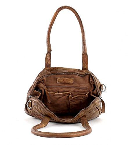 FREDsBRUDER Freebie Handtasche Leder 31 cm mud brick