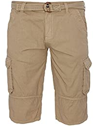 a37ccfe485 Mens Shorts Brave Soul Chino Style Combat Cargo 3 4 Bottoms Half Pants  Summer