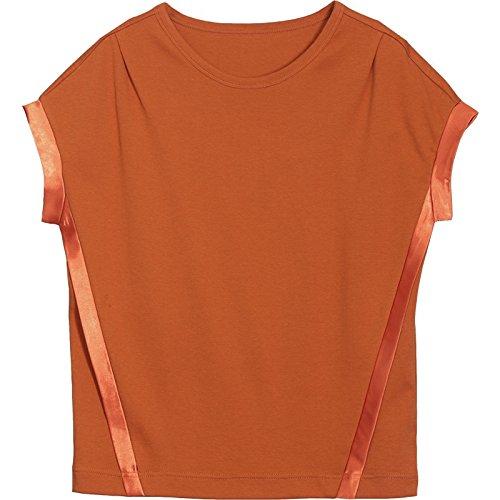MoMo T-Shirt à Manches Courtes T-Shirt à Manches Longues en Coton à Manches Courtes,Agrumes,M