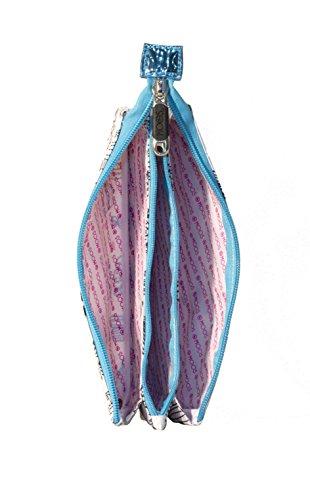 41KXtVwvrWL - Moos Cactus Portatodo Triple, Color Blanco y Azul Celeste
