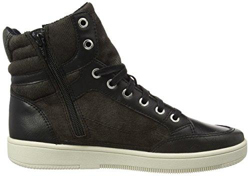 ESPRIT Desire Bootie, Damen Hohe Sneakers Schwarz (001 Black)