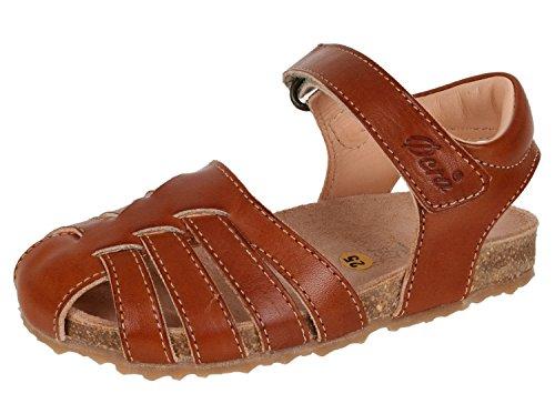 Ocra 609V enfants sandales fermé avec semelle Liège Marron - Braun (81583 bolivia brown red)