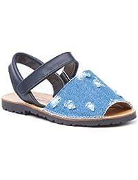 Glitter Con Velcro Niña Zapatos 15091g Ibicencas Amarillo Para Sandalias UVSpqzM