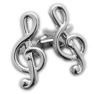 Manschettenknöpfe in Form eines Violinschlüssels PSN178