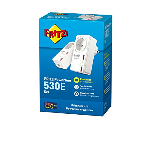 AVM FRITZ!Powerline 530E Set (500 Mbit/s, Fast-Ethernet-LAN, Steckdose) deutschsprachige Version - 3