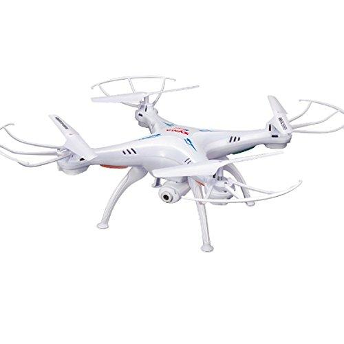 Syma X5SC Verbesserter Neue Version Syma X5SC-1 Falcon Drone HD 2.0MP Kamera 4-kanal 2,4 G Fernbedienung Quadcopter 6 Achse 3D Klapp Fliegen UFO 360 Grad Eversion Mit 4GB SD Karte - Weiß, x5sc-1