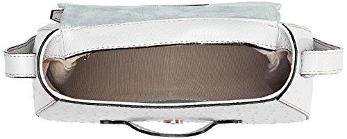 Chicca Borse 8616, Borsa a Spalla Donna, 25x20x9 cm (W x H x L) Bianco
