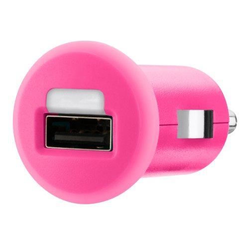 Belkin F8J018cwPNK MIXIT Caricabatteria USB da Auto per iPhone 5/5s/5c/6/6 Plus, 5 W, 1 A, Ros