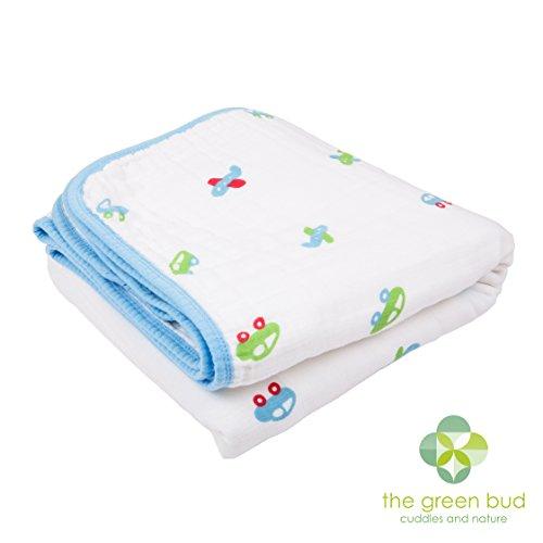 Couverture pour bébé - Dimensions : 120 cm x 120 cm. seulement 100% de haute qualité, respirant pour Nos Rêves les couvertures en mousseline de coton. 4 couches en mousseline/Choix Idéal pour de nombreuses utilisations.