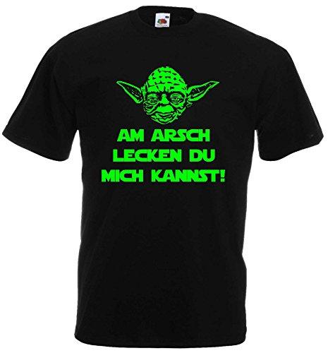 Master Yoda T-Shirt Star Wars Spruch AM Arsch LECKEN DU Mich Kannst!XXXL