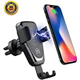 HFAN Wireless Car Charger Mount, 10W Auto Clamping Fast Charging Qi Car Phone Holder Car Vent Mount Gravity Sensor for iPhone Xs/Xs Max/XR/X/ 8/8 Plus,for Galaxy S10 /S10+/S9 /S9+/S8 /S8+