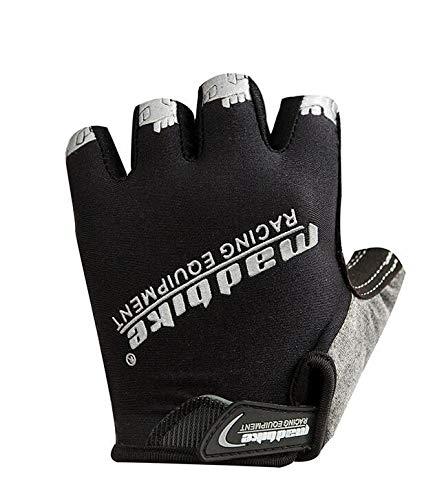 Wxzb, attrezzatura da alpinismo all'aperto, guanti antiscivolo, guanti da alpinismo, guanti da passeggio, guanti sportivi estivi e guanti traspiranti, nero, m