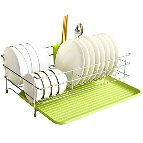 Yankuoo Moderne einfache Küche Single-Layer-Lagerregal, Multifunktions-Lagerregal Dish Rack Wäscheständer Chrome Plate Drain Rack -