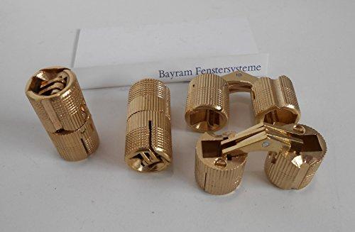 Preisvergleich Produktbild Bayram 2 Stck Einbohrband Zysa Scharnier Bohr-Ø 14 mm - für Holzdicke 20 - 26 mm