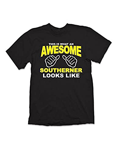 Shaw Tshirts® This is What an Awesome Southerner Looks Like T-Shirt - Black (XL)