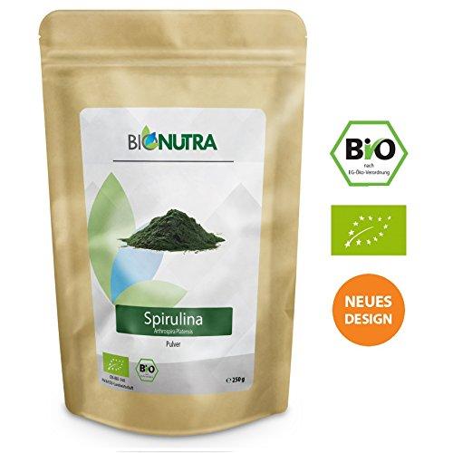 BioNutra® Spirulina-Pulver Bio 250 g, 100% rein