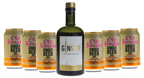 Cocktailpaket - London Buck mit GINSTR (1x500ml) mit 6x Old Jamaica Ginger Beer