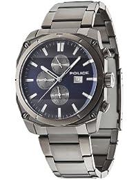 INTELIHANCE.  14099JSU/03M - Reloj de cuarzo para hombre, con correa de acero inoxidable, color gris