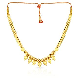 Malabar Gold and Diamonds Tushi Collection 22k (916) Yellow Gold Choker Necklace