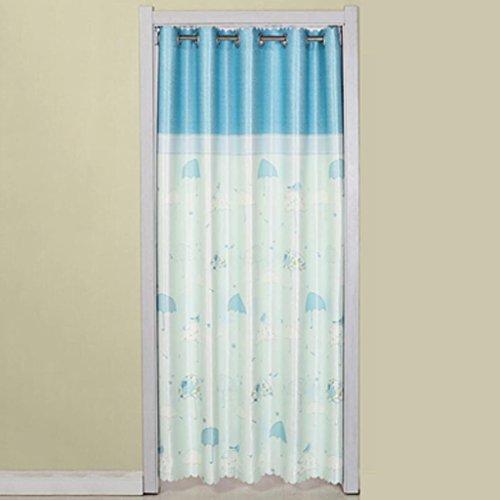 Liuyu · Maison de Vie Porte Rideau Tissu Rideau Cut Off Double-Face Épaississement Ménage Cuisine Chambre Baie Fenêtre (Couleur : Bleu, Taille : 190 * 200cm)