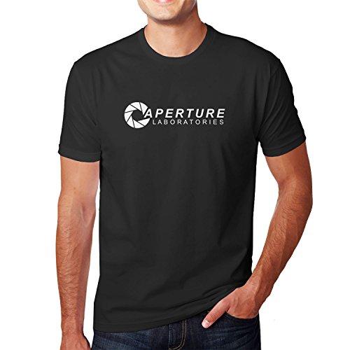 Planet Nerd - Aperture Laboratories - Herren T-Shirt, Größe XXL, schwarz