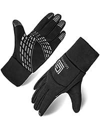 ccf7030b75088c Opard Touchscreen Handschuhe Unisex Winter Warme Fleece Innenfutter  Handschuhe Wasserdicht Rutschfestes Abriebfest…