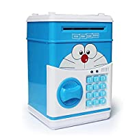 Large Piggy Bank ATM Bank Money Saving Box Kitty Password Box Minions Safe Piggy Bank Smart Voice Money Piggy Box Cat Coin Bank