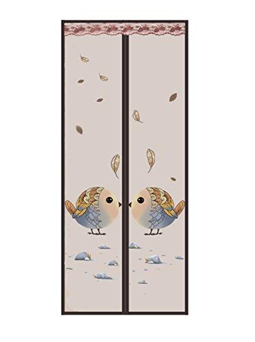 Zanzariera magnetica per porte zanzariera, montaggio senza viti, tenda per porta balcone, soggiorno, porta scorrevole (90 x 210 cm), marrone