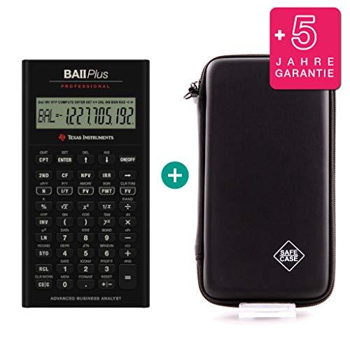 Texas Instruments / Calcuso TI BA II Plus Professional + Schutztasche + Erweiterte Garantie